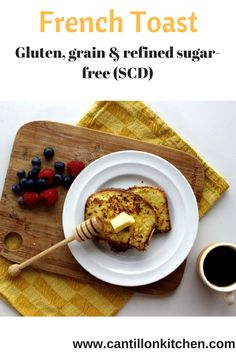 French Toast - Delicious gluten and grain-free breakfast treat that's healthy too. Free from refined sugar and suitable for the Specific Carbohydrate Diet. Free Breakfast, Breakfast Ideas, Specific Carbohydrate Diet, Scd Diet, Scd Recipes, Honey And Cinnamon, Healthy Breakfast Recipes, Recipe Using, Thanksgiving Recipes