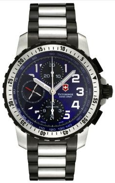 BUY NOW Stainless Steel Case, See-through Screw-in Caseback, Blue Dial with Black Subdials, Steel Arabic Numerals, Date, Chronograph Feature (Hours, Minutes, Seconds), Tachymeter Scale Displayed Around the Outer Dial, Stainless Steel and Black PVD Rotating Bezel, Stainless Steel and Black PVD Bracelet, Self Winding Mechanical Movement, Power Reserve 46 Hours, Water Resistant to 100 Meters/330 Feet. BUY NOW $699.00 BUY NOW The post Victorinox Swis