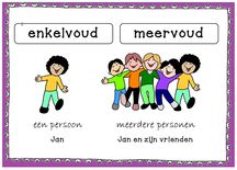 Voor de jongere kinderen kunnen de begrippen enkelvoud en meervoud lastig zijn. Zij hebben het liever over één en meer. Toch is het van belang dat ze bekend worden met deze benamingen. Learn Dutch, Creative Teaching, Language, Classroom, Teacher, Letters, Lisa, Learning, Dyscalculia