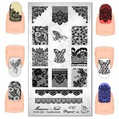 Plaque  stamping marianne nails floral n°57
