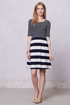 Harper Striped Day Dress  #anthropologie $58
