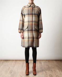 LOVE. Tartan wool coat by CHLOÉ.