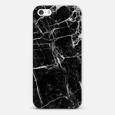 Natalie Liao - Blk Marble iPhone Case