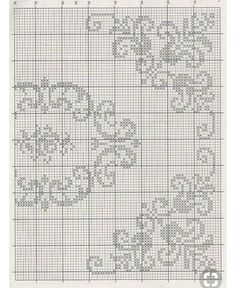 This Pin was discovered by Ayç Cross Stitch Borders, Cross Stitch Flowers, Cross Stitch Designs, Cross Stitching, Cross Stitch Embroidery, Hand Embroidery, Cross Stitch Patterns, Filet Crochet Charts, Crochet Cross