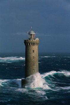 The Kéréon lighthouse, Brittany, France
