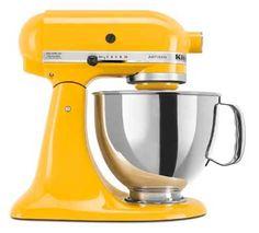 Butter Yellow Kitchen Aid Mixer