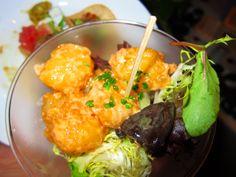 Rock Shrimp Tempura with Creamy Spicy Yuzu Sauce by Chef Nobu Matsuhisa of Nobu @ Los Angeles Food & Wine Festival