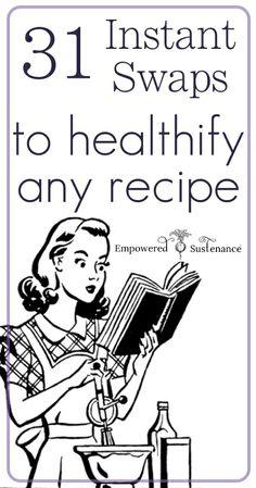 31 Instant Swaps to Healthify Any Recipe