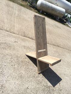 Afrikaanse stoel in steigerhout.