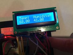 Portable Arduino Uno Temperature and Humidity Sensor with LCD Screen