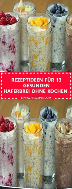 Probiert diese gesunden Rezepte für Haferbrei, der euch gut in den Tag starten . Try these healthy recipes for porridge that will get you off to a good start in the day. High levels of protein Healthy Porridge Recipe, Porridge Recipes, Oatmeal Recipes, Healthy Protein, Protein Foods, Healthy Smoothies, Breakfast Smoothies, Healthy Breakfast Recipes, Healthy Recipes