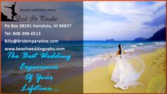 Lets try something else, something unusual, something which will bring you sheer feel of romanticism wrapped in elation, happiness and passion, lets try Hawaii wedding.  Now if you are wondering, why you should be trying Hawaiian wedding over the traditional Church wedding, well there are solid reasons.