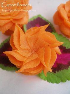 carrot flowers carving art
