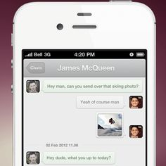 Chatterbox App design by George Gliddon. - Best Mobile Designers In The World   Scoutzie