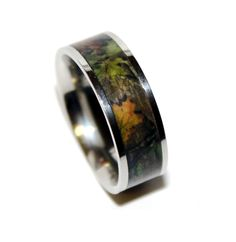 Camo Wedding Ring..i want one like thi