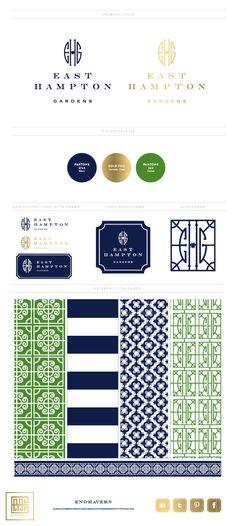 East Hampton Gardens Branding Board | Emily McCarthy Branding