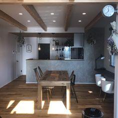 Diy Kitchen Storage, Kitchen Decor, Natural Interior, Condo Living, Dining Room, Table, House, Furniture, Home Decor