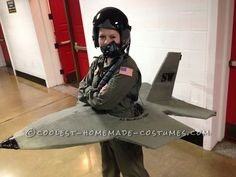 Cadet Builds F-16 to prepare for Air Force Pilot Training... Coolest Halloween Costume Contest