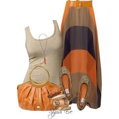 Add a cardigan and you have a super cute fall outfit! Stylish Eve Outfits Printed Maxi Skirts for Every Stylish Need Stylish Eve Outfits, Casual Outfits, Cute Outfits, Ladies Outfits, Casual Wear, Spring Summer Fashion, Autumn Fashion, Maxi Skirt Outfits, Printed Maxi Skirts
