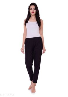 Checkout this latest Women Trousers Product Name: *Attractive Solid Cotton Women's Trouser* Fabric: Cotton Size: S - 28 in M - 30 in L - 32 in XL - 34 in XXL -36 in Length: Up To 38 in           Type: Stitched Description: It Has 1 Piece Of Women's Trouser Pattern: Solid Country of Origin: India Easy Returns Available In Case Of Any Issue   Catalog Rating: ★3.9 (467)  Catalog Name: Femme Attractive Solid Cotton Womens Trousers Vol 1 CatalogID_145682 C79-SC1034 Code: 233-1167764-108
