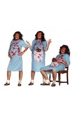 Disfraz de embarazada zombie para hombre