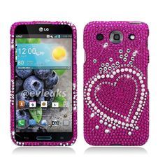 Cell Cases USA - LG Optimus G Pro Pink Pearl Big Heart Diamond Hard Cover Case **************Use the code : CCUPIN to get 15% off your purchase and get your FREE shipping within the U.S !!  Check out our site for more awesome cases @ www.cellcasesusa.com