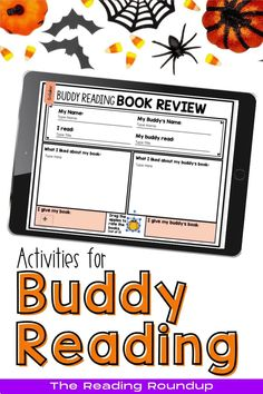 Is your Daily 5 Buddy Reading Center as effective as you'd like for it to be? These Halloween themed digital and printable reading buddies bookmarks are guaranteed to lead to more student engagement. Elementary students can practice making predictions with these bookmarks and graphic organizers. Story Elements reading response sheets are also available for additional accountability during literacy centers. A must-have for your reading workshop! Reading Centers, Reading Workshop, Reading Activities, Literacy Centers, Partner Reading, Reading Response, Student Reading, Daily 5 Centers, Reading Buddies