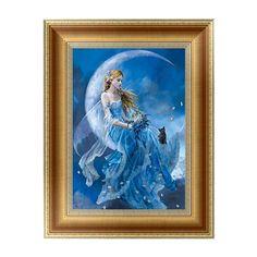 DIY 5D Diamonds Embroidery Girl Round Diamond Painting Cross Stitch Kits Mosaic Home decor 30*40cm Diamante
