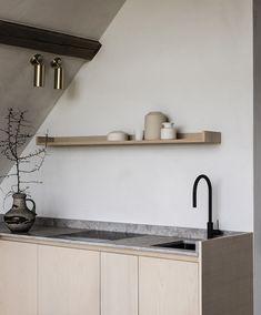 Luxury Homes Interior, Home Interior Design, Interior Architecture, Minimalist Architecture, Interior Colors, Nordic Kitchen, Loft Kitchen, Chaise Bar, Interiores Design