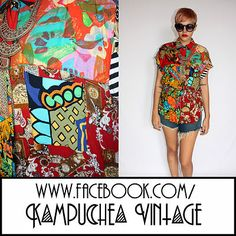 Vintage Abstract Print patch Work Shirt Blouse Womens sz12 - 1980s Retro FREE P  £22.00  WOW and WOWness x WOW! This has got to be one of the coolest womens blouses we've come across. Made from a patchwork of amazing 80s printed fabrics with the cutest of tapered in elastic waists. This shirt speaks for itself and will certainly stand out in any crowd.
