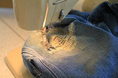 Cool jeans patching technic