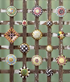 Knobs for every door by MacKenzie-Childs.