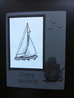 Stamped Birthday Card.