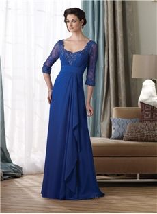 Chiffon A-line/Princess Exquisite Scoop Mother of the Bride Dress Newcastle