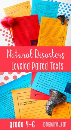 Paired texts and passages are great for providing students with more complex texts to compare and build knowledge. These differentiated passages are perfect for 4th grade and middle school! Click the pin to see some of the texts about natural disasters included!