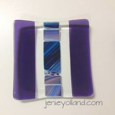 Blue and purple art glass inspired by delphiniums - created by jenieyolland. This one is called Kaijomaa Delphinium. x available in every size on my website.