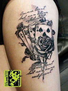 playing card tattoo playing cards tattoos pinterest playing rh pinterest com Heart Tattoos The Game Tattoos