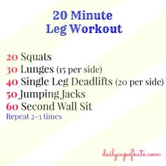 20 Minute Leg Workout