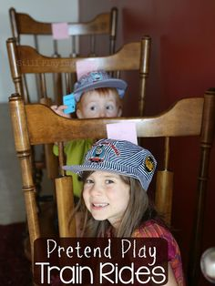 Pretend play train station for kids!