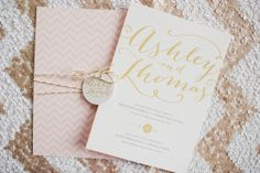 pink and gold with chevrons