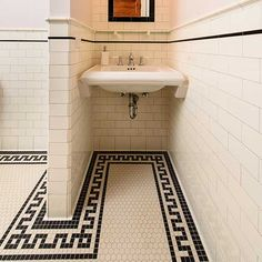 Heritage Tile is your source for period-correct, historically-authentic tile! Arts And Crafts Interiors, Tile Projects, Tile Installation, Mosaic Designs, Greek Key, Bathroom Styling, Historic Homes, Tile Design, Mosaic Tiles