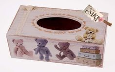 CHUSTECZNIK  DREWNIANY MISIE SHABBY CHIC  w Deco Galeria eMKa na DaWanda.com