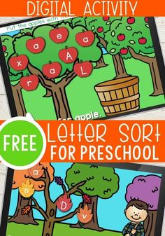 Free Fall Digital Preschool Letter Recognition Activites | Life Over C's