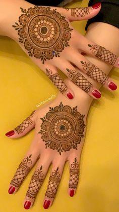 Simple tattoo for men ideas words 56 super ideas Round Mehndi Design, Arabic Bridal Mehndi Designs, Indian Henna Designs, Henna Tattoo Designs Simple, Basic Mehndi Designs, Henna Art Designs, Stylish Mehndi Designs, Mehndi Designs For Beginners, Mehndi Designs For Girls