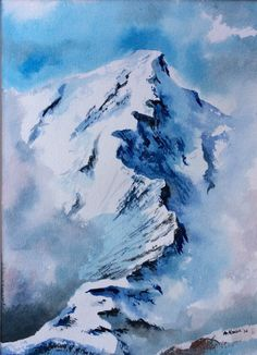Items similar to Matted Mountain View ORIGINAL watercolor painting ART unique painting Wall Decor Handmade on Etsy - en beyendiğim Painting easy Painting ideas Painting water Painting tutorials Painting landscape Painting abstract Watercolor Painting Dali Paintings, Watercolor Art Paintings, Unique Paintings, Oil Painting Abstract, Watercolor Landscape, Landscape Paintings, Painting Art, Watercolour, Mountain Drawing