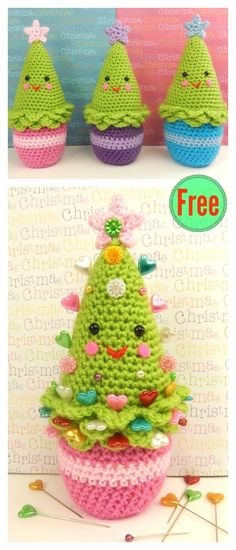 Simply Crochet : Amigurumi Christmas Tree Free Crochet Pattern