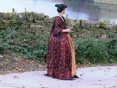 WALKING PONDON WATER ,A robe a la francais/sacque back gown