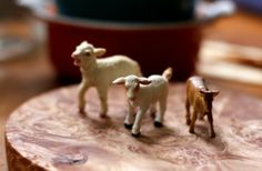 A Playful, But Also Informative, Cheese Tray Decoration... use plastic animal figurines to denote what kind of cheeses you are serving. Maybe each animal could also carry one of those cocktail toothpicks with the flag on the end to denote cheese nationality.