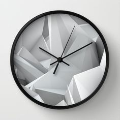 White Noiz Wall Clock by ThoughtCloud - $30.00