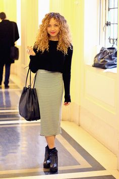 The Striped Pencil Skirt | LFW OOTD